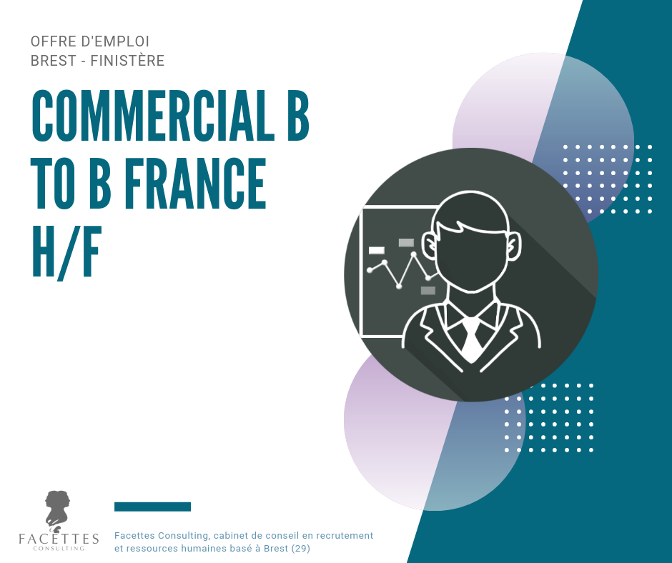 emploi brest commercial b to b france facettes consulting cabinet recrutement brest