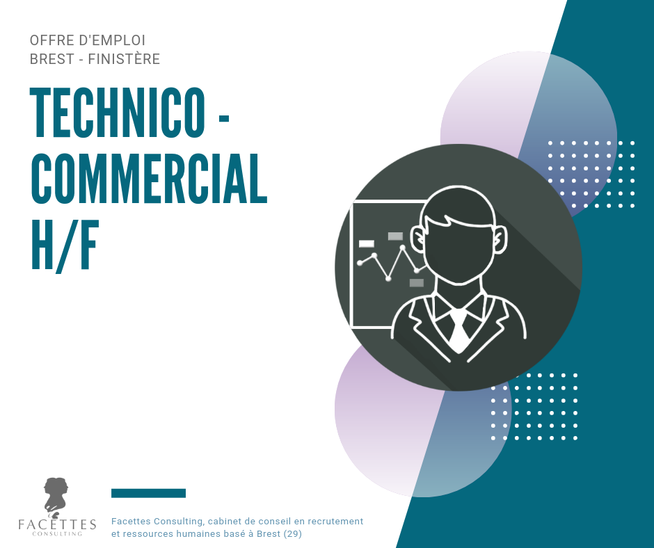 offre emploi brest finistere technico commercial cabinet recrutement facettes consulting