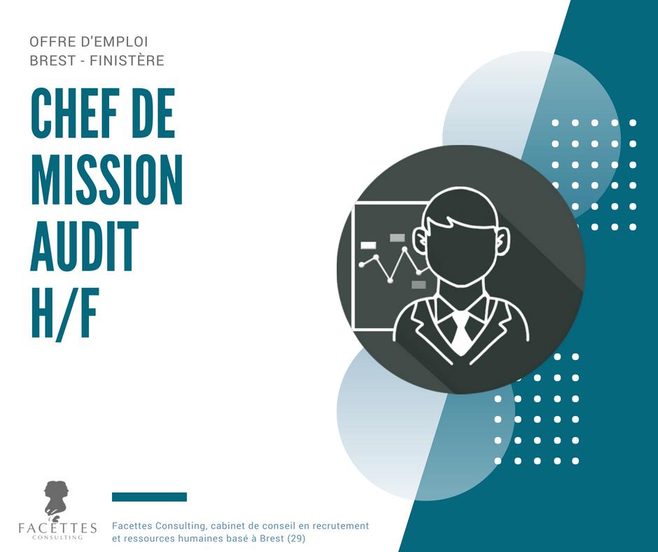 Chef de mission audit h f facettes consulting cabinet de recrutement et conseil en ressources - Recrutement chef de cabinet ...